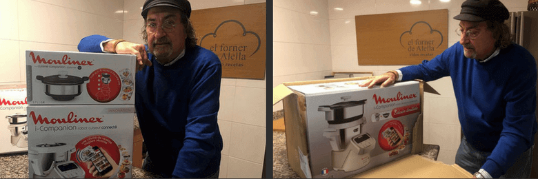 Aqui el forner con el robot de Moulinex