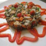 Ensalada de Lentejas con Atún y Verduras