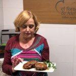 Carmen en el Forner de Alella y las galtas de cerdo
