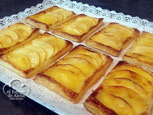 Hojaldres de Manzana con Crema