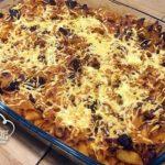 Macarrones con Chorizo y Jamón