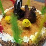 Mona de Pascua de crema pastelera