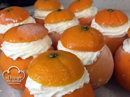 Naranjas heladas con Crema de Almendras