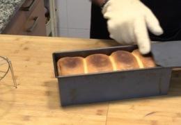 Pan de molde después hornear