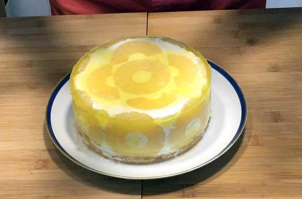 Pastel Semifrío de Piña