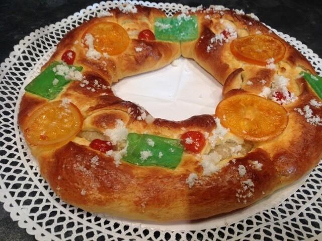 Roscón de Reyes con Mazapán Casero
