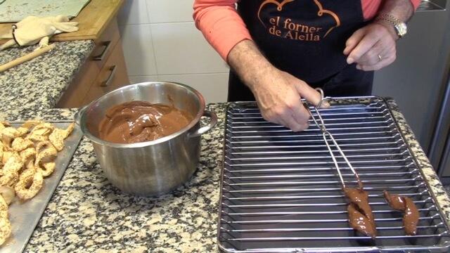 Virutas de chocolate a la parrilla