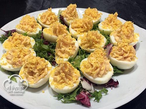Huevos rellenos de Salmón Ahumado