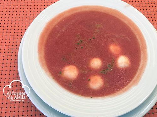 Sopa de Tomate con Mascarpone