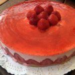 tarta semifria de fresas